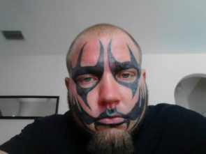 unique facial tattoo