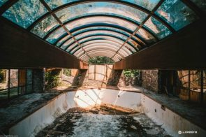 Abandoned inside pool