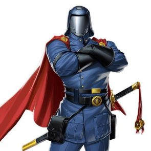 Cobra Commander has a sword