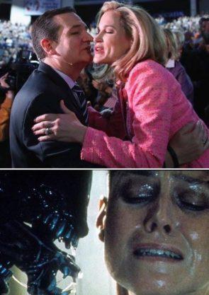 Cruz had one last kiss