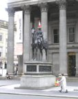 Duke of Wellington statue, with cone