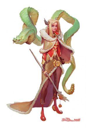 Fantasy Snake Woman