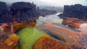 Hot springs on Mount Roraima in Venezuela
