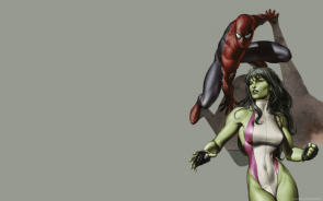 She Hulk and Spider-man