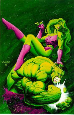 She Hulk and her Cousin