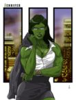 She Hulk and the city
