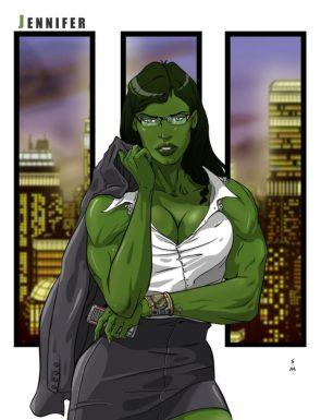 She Hulk and the city