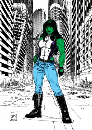 She Hulk and the destroyed city