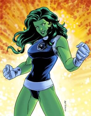 She Hulk explosion pose