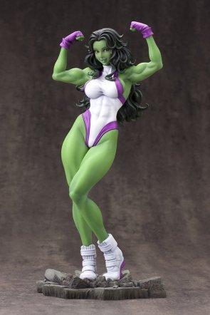 She Hulk flexing statue