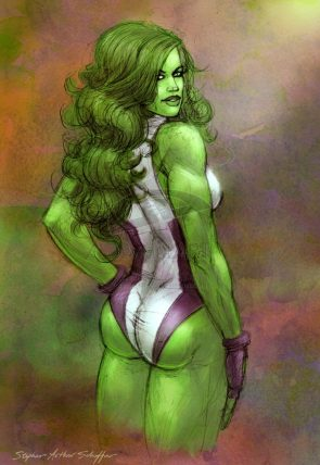 She Hulk has a perky butt