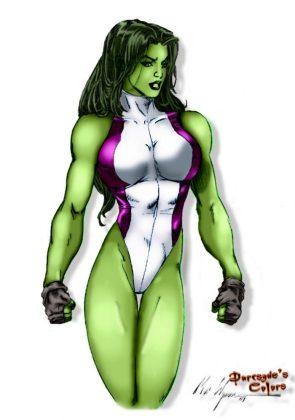 She Hulk has no feet
