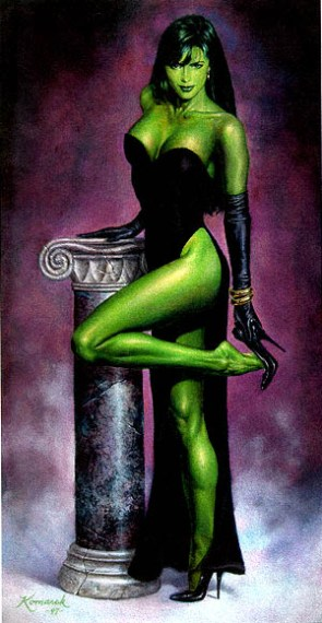 She Hulk in a classical dress