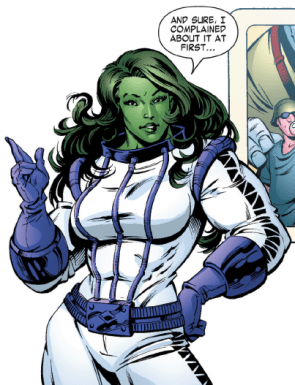 She Hulk in a space suit