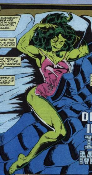 She Hulk in bed