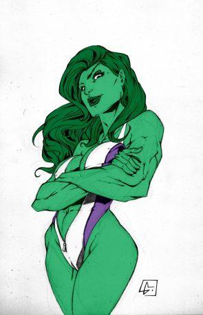 She Hulk in one piece swimsuit