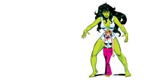 She Hulk in white ripped outfit