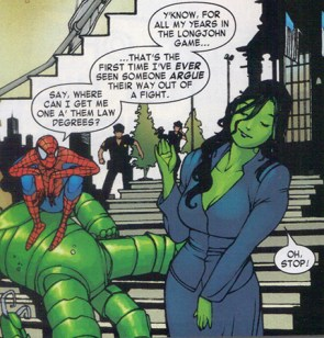 She Hulk lawyer with Spider-Man