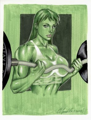 She Hulk lifting