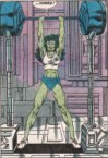 She Hulk lifts on three