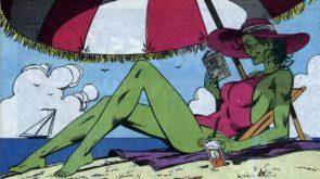 She Hulk on the beach