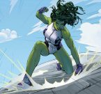She Hulk punches a floor
