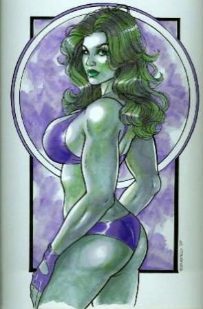 She Hulk sketch bikini