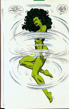 She Hulk  skipping rope