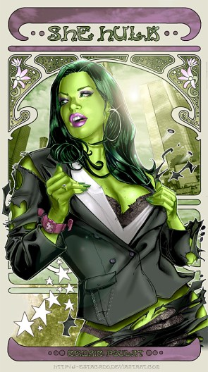 She Hulk  trading card