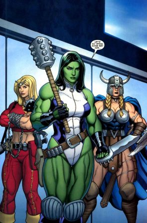 She Hulk with a mace