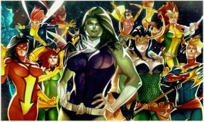 She Hulk with female heroes