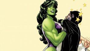 She Hulk with punched out guy