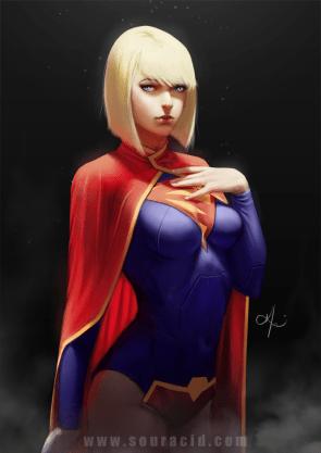 Supergirl in Smoke