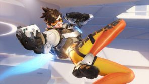 Tracer on her side barely hiding her sweetness