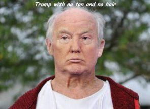 Trump with no tan and no hair