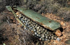 Unexploded Cluster bombs
