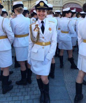 White uniformed woman