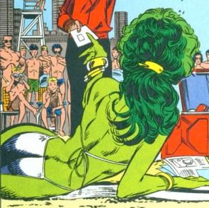 she hulk bikini on the beach