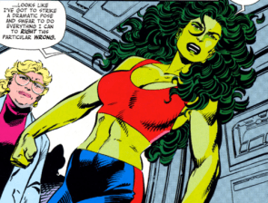 she hulk dramatic pose