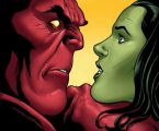 she hulk face to face with red hulk