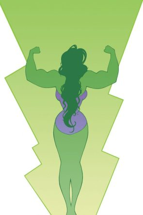 she hulk flexing from behind