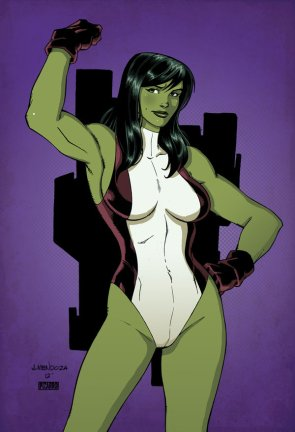 she hulk flexing on a card