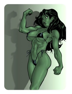 she hulk in string bikini