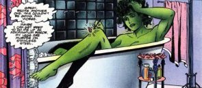 she hulk in the tub