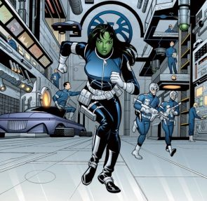 she hulk is an agent of SHIELD and is running