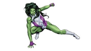 she hulk is angry in white