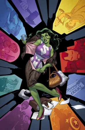 she hulk is colorful