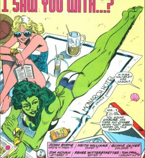 she hulk is seen with