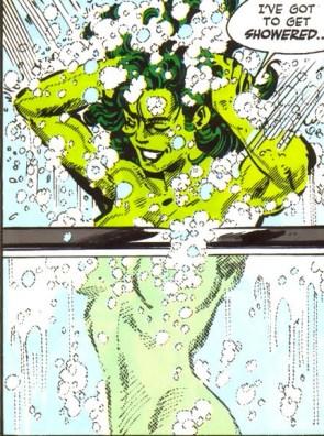 she hulk is showered