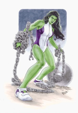 she hulk is tied down poorly